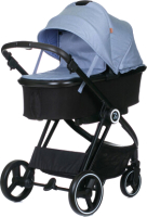 Детская универсальная коляска Babyzz В102 2 в 1 (голубой) -