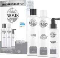 Набор косметики для волос Nioxin Система 1 шампунь 150мл+кондиционер 150мл+маска 50мл -