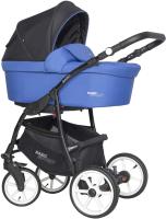 Детская универсальная коляска Riko Basic Sport 3 в 1 (05/raicing blue) -