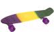 Пенни борд Indigo LS-P2206B (фиолетовый/желтый/зеленый) -