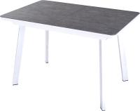 Обеденный стол Домотека Блюз ПР-1 80x120-159 (темно-серый/белый/93) -