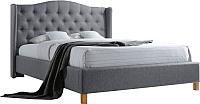 Двуспальная кровать Signal Aspen 180x200 (серый) -