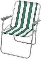 Кресло складное Ника КС4 (зеленый/белый) -