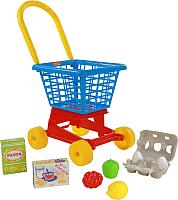 Тележка игрушечная Полесье Supermarket №1 с набором продуктов / 67890 -