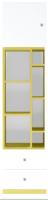 Стеллаж Gerbor Моби REG1D2SO (нимфеа альба/униколор желтый/нимфеа альба) -