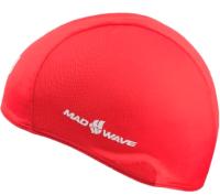 Шапочка для плавания Mad Wave Poly (красный) -