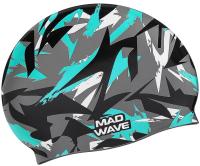 Шапочка для плавания Mad Wave Sanford (зеленый) -
