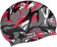 Шапочка для плавания Mad Wave Sanford (красный) -
