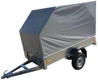 Прицеп для автомобиля ССТ ССТ-7132-03 со скосом (с тентом) -
