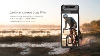 Смартфон Blackview BV5500 Plus (черный)