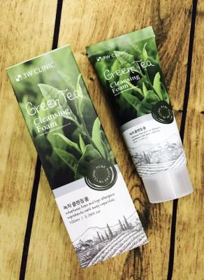 Пенка для умывания 3W Clinic Green Tea Foam Cleansing (100мл)