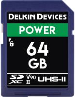 Карта памяти Delkin Power SDXC 64GB 2000X UHS-II (Class 10) V90 (DDSDG200064G) -