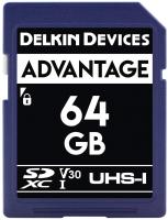 Карта памяти Delkin Advantage SDXC 64GB 633X UHS-I (Class 10) V30 (DDSDW63364GB) -