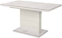 Обеденный стол Дамавер Alta 120 / DT2000120GRWHTWHT -