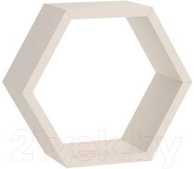 Полка-ячейка Domax FHS 300 Hexagonal Shelf BI / 67701 (300x260x115x18, белый)