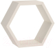 Полка-ячейка Domax FHS 300 Hexagonal Shelf BI / 67701 (300x260x115x18, белый) -