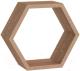 Полка-ячейка Domax FHS 300 Hexagonal Shelf DS / 67703 (300x260x115x18, сонома ОАК) -