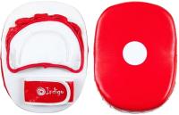 Боксерская лапа Indigo PS-907 (красный/белый) -