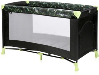 Кровать-манеж Lorelli Verona 1 Black Green Dots / 10080252079 -