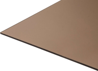 Монолитный поликарбонат Карбогласс Кристалл 2050x3050 КСП 30% (4мм, бронза) -