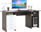 Компьютерный стол MFMaster Милан-6 (0120) / МСТ-СДМ-06-ВБ-03 (венге/белый) -