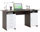 Письменный стол MFMaster Милан-7 (0120) / МСТ-СДМ-07-ВБ-03 (венге/белый) -