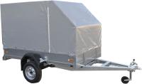 Прицеп для автомобиля ССТ ССТ-7132-06 со скосом (с тентом) -