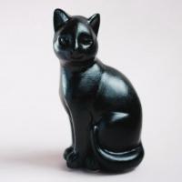 Статуэтка Нашы майстры Сидячий кот / 3022 (черный) -