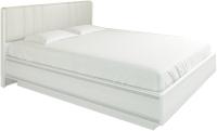 Двуспальная кровать Лером Карина КР-1013-СЯ 160x200 (снежный ясень) -