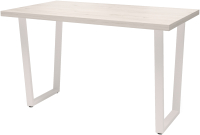 Обеденный стол Millwood Лофт Уэльс Л 130x80x75 (дуб белый Craft/металл белый) -