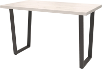 Обеденный стол Millwood Лофт Уэльс Л 120x70x75 (дуб белый Craft/металл черный) -