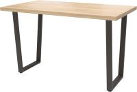 Обеденный стол Millwood Лофт Уэльс Л 130x80x75 (дуб золотой Craft/металл черный) -