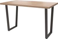 Обеденный стол Millwood Лофт Уэльс Л 130x80x75 (дуб табачный Craft/металл черный) -
