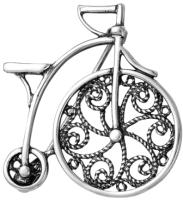 Брошь Красная Пресня Велосипед / 14010632 -