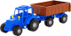 Трактор игрушечный Полесье Мастер №1 с прицепом / 84774 -