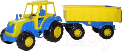 Трактор игрушечный Полесье Алтай №1 с прицепом / 35332