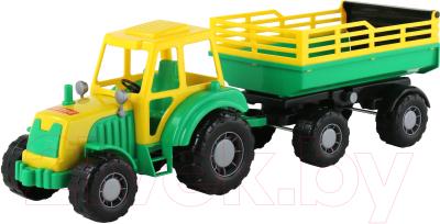 Трактор игрушечный Полесье Алтай с прицепом / 35356