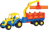Трактор игрушечный Полесье Алтай с прицепом / 35370 -