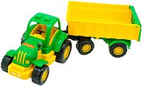 Трактор игрушечный Полесье Крепыш №1 с прицепом и ковшом / 44556 -