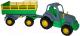 Трактор игрушечный Полесье Крепыш №2 с прицепом / 44563 -