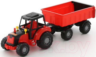 Трактор игрушечный Полесье Мастер №1 с прицепом / 35257 - товар по цвету не маркируется