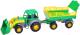Трактор игрушечный Полесье Мастер №2 с прицепом и ковшом / 35288 -