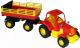 Трактор игрушечный Полесье Силач №2 с прицепом / 44969 -