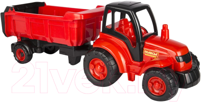 Трактор игрушечный Полесье Чемпион с полуприцепом / 0445