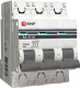 Выключатель автоматический EKF ВА 47-63 3P 10А (C) 4.5kA PROxima / mcb4763-3-10C-pro -