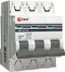 Выключатель автоматический EKF ВА 47-63 3P 6А (C) 4.5kA PROxima / mcb4763-3-06C -