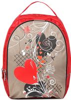 Школьный рюкзак Galanteya 57518 / 9с1807к45 (красный/бежевый) -