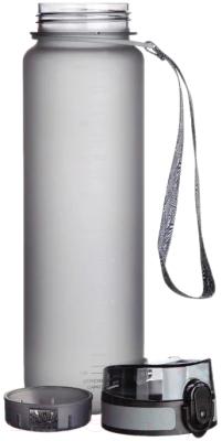 Бутылка для воды UZSpace Colorful Frosted / 3038 (1л, серый)