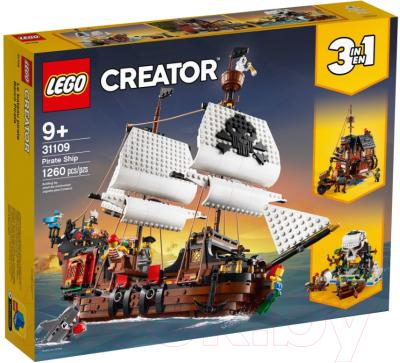 Конструктор Lego Creator Пиратский корабль / 31109 конструктор lego creator 40460 розы
