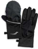 Перчатки для бега Saucony 2020-21 Fortify Convertible Gloves / SAU900005 (XS, Black) -